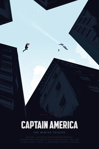 Captain America The Winter Soldier Poster by Oli Riches LITE
