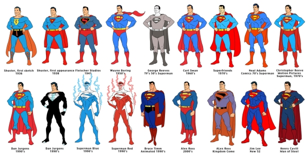 Superman 75 Short Line Up by Dusty Abell Large